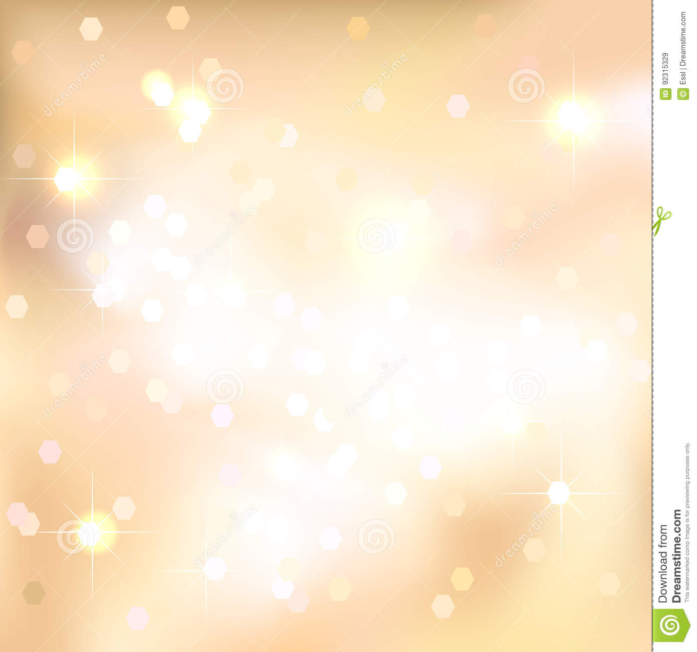 gold abstract background with light spots and stars magical new year christmas event style