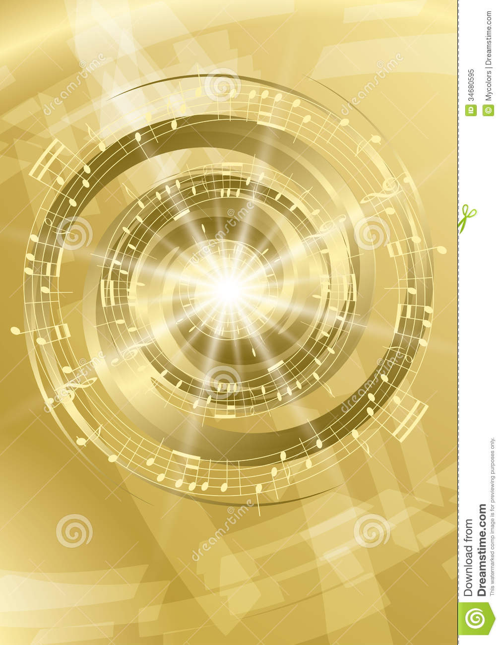 gold abstract music background vector flyer stock vector