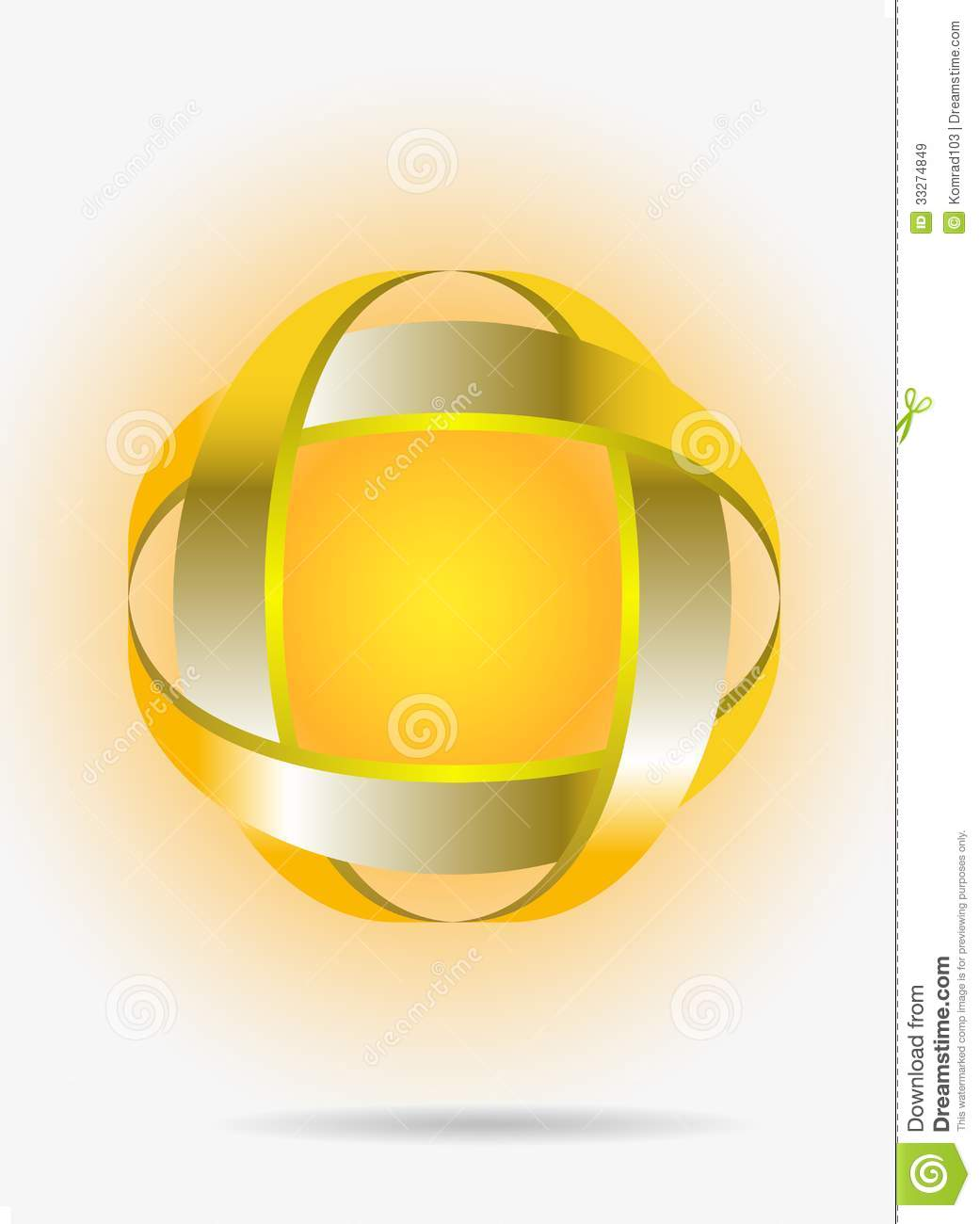 Gold abstract symbol royalty free stock images image 33274849