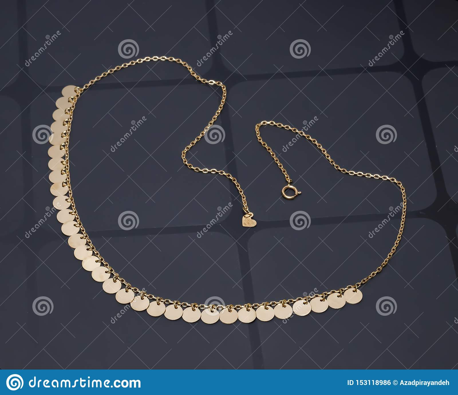 Gold accessories for beauty women