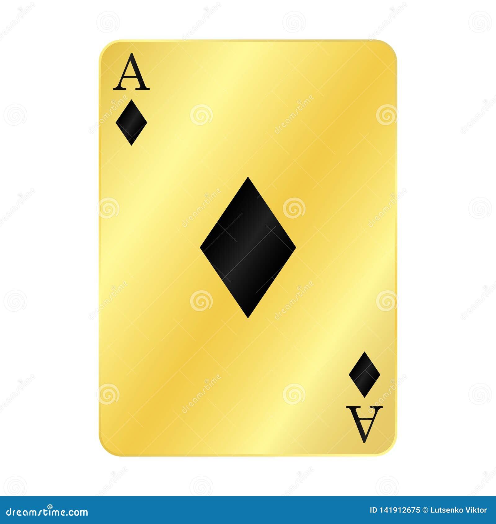 Fun gold ace of diamonds