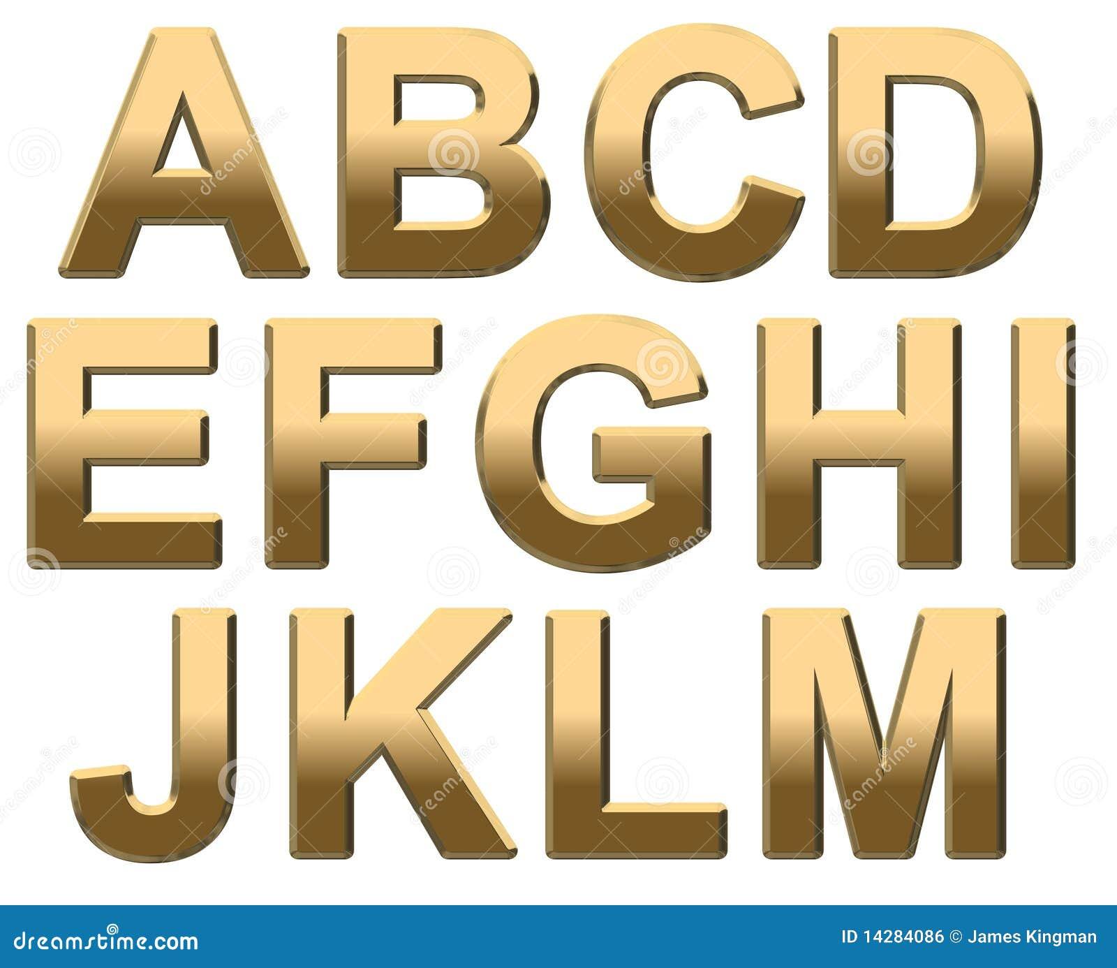 Reflective Letters Alphabet Yellow
