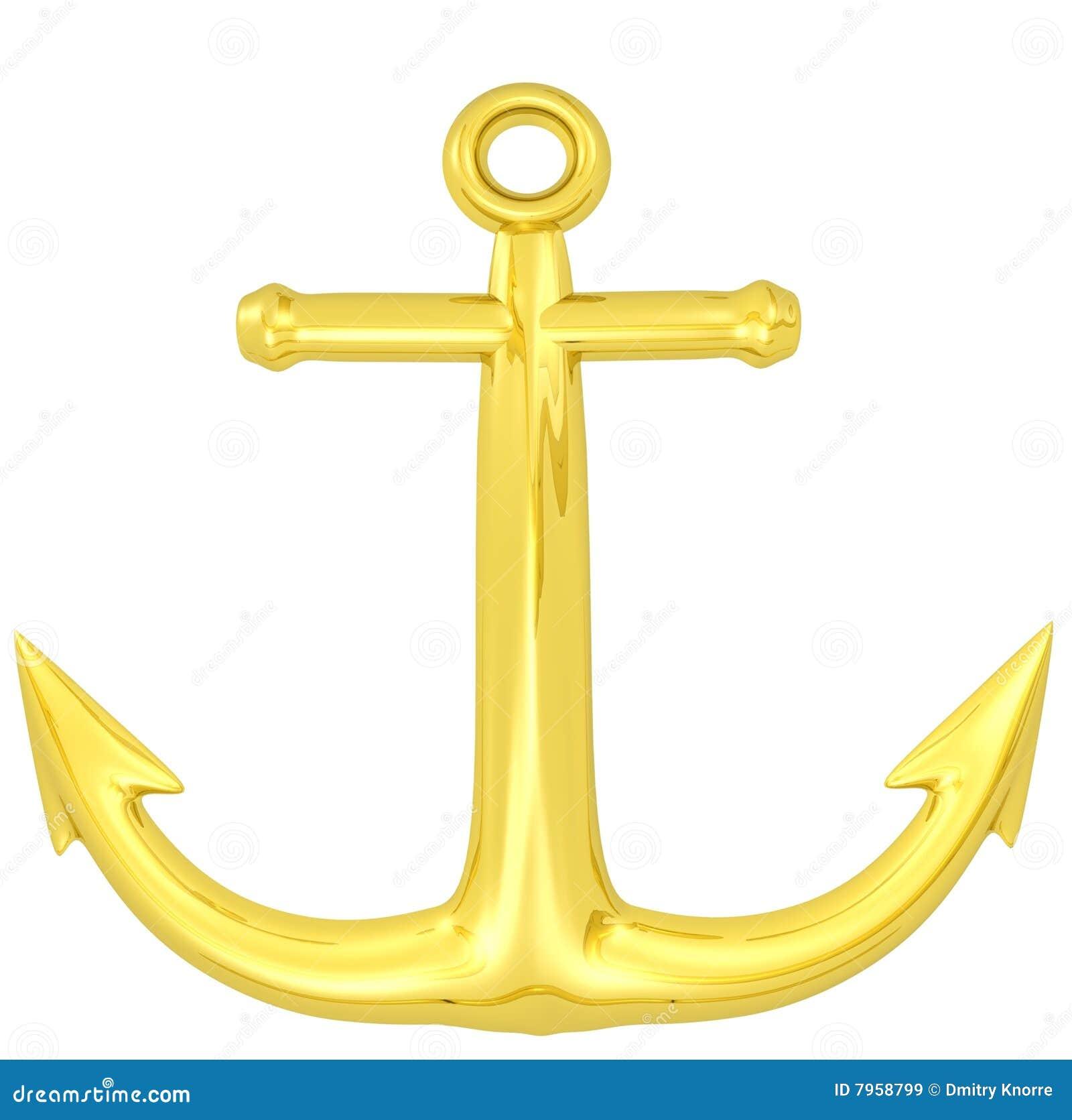 3d gold anchor photo - photo #14