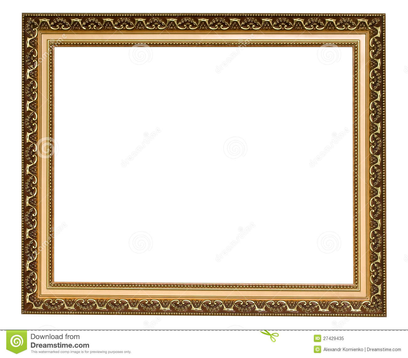 Antique Picture Frames Part - 25: Gold Antique Frame Royalty Free Stock Photo