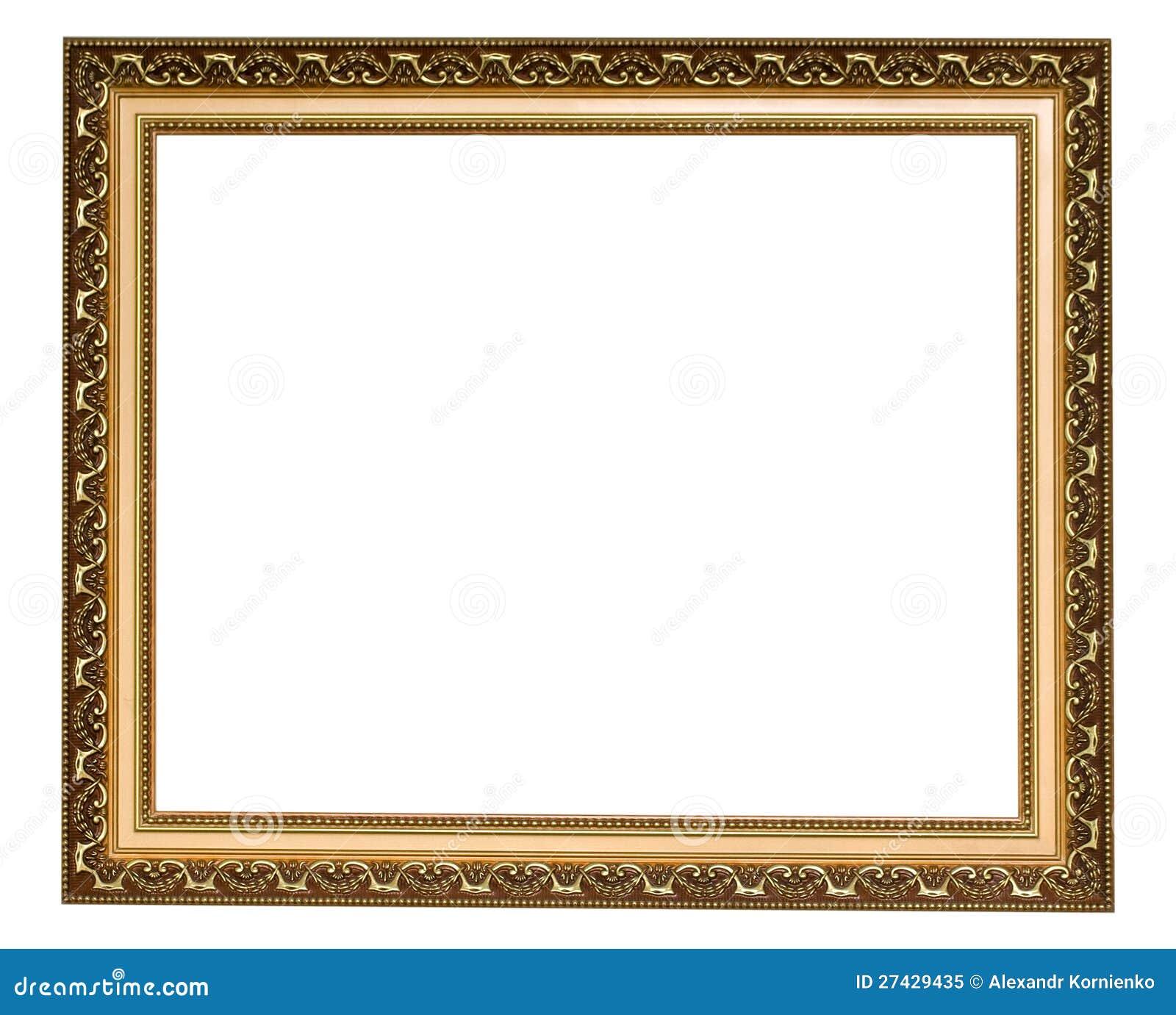 Gold antique frame stock image Image of border baguette 27429435
