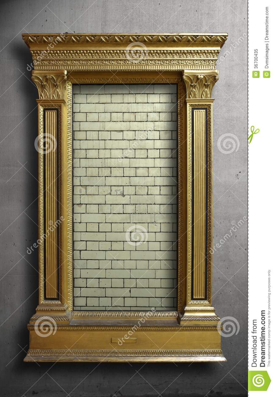 Surreal Gold Antique Picture Frame Stock Image Image Of