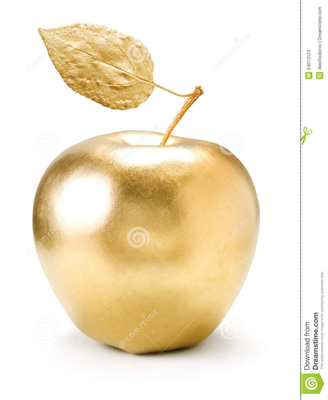 Gold Apple. Stock Photos - Image: 24013123