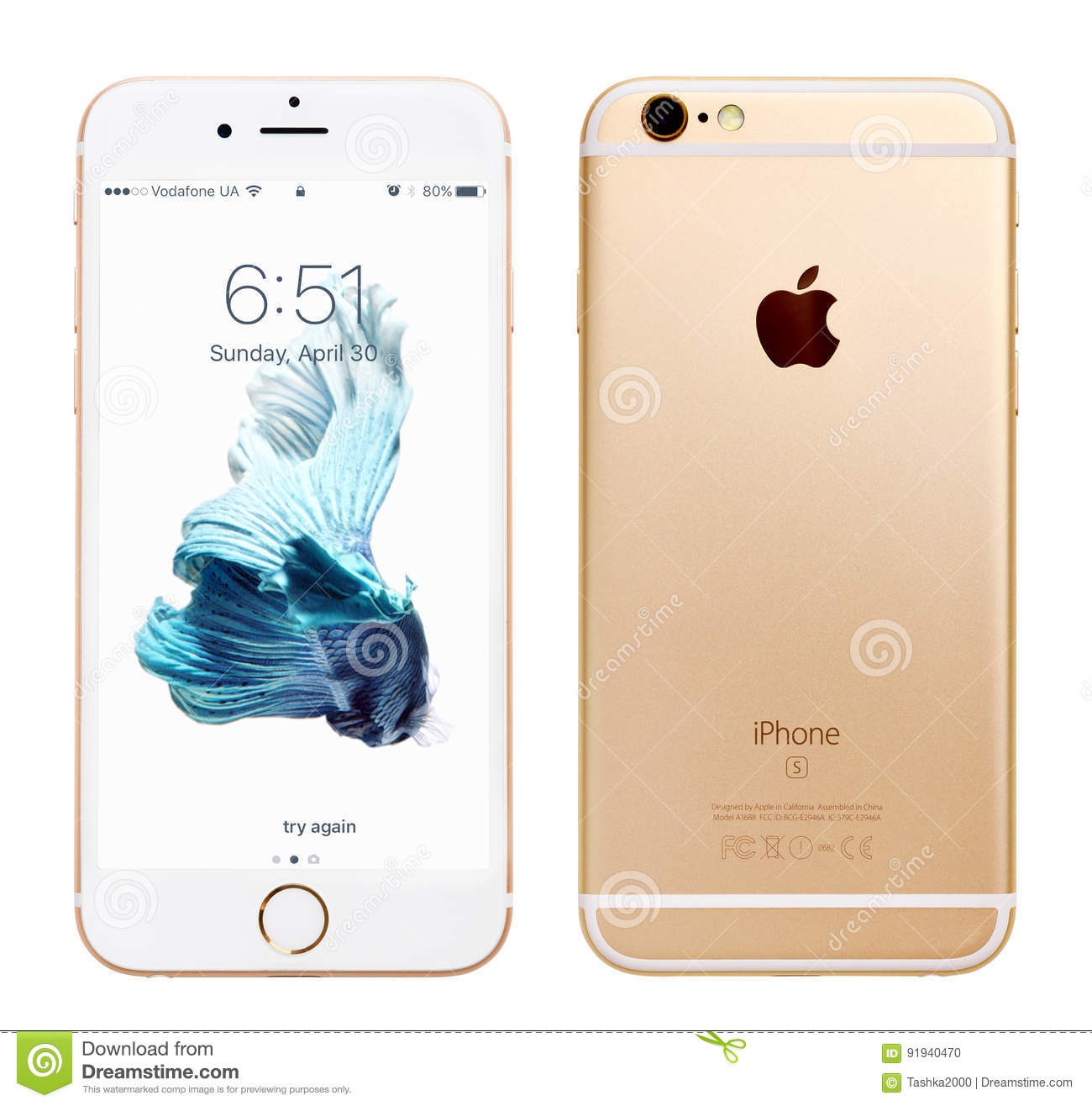 Gold Apple iPhone 6S editorial image  Image of computer - 91940470