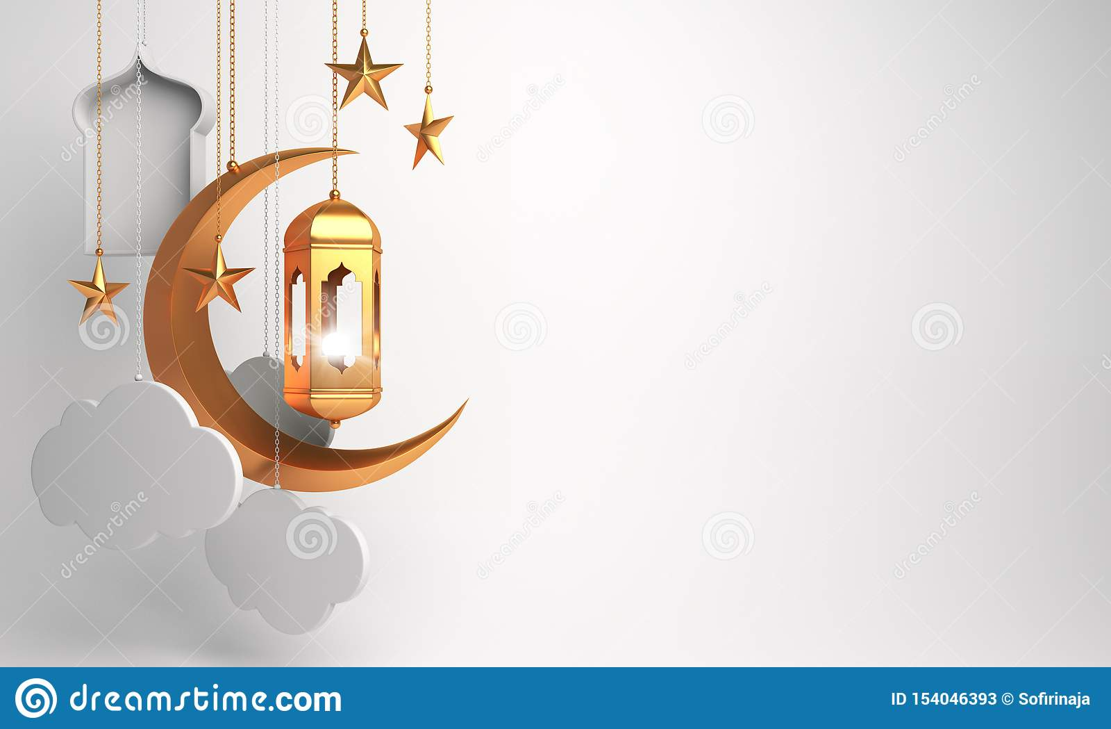 Gold Arabic Lantern, Crescent, Cloud, Star, Window On White ... on jerusalem window, jesus window, valentines day window, thank you window, fashion window, new year window,