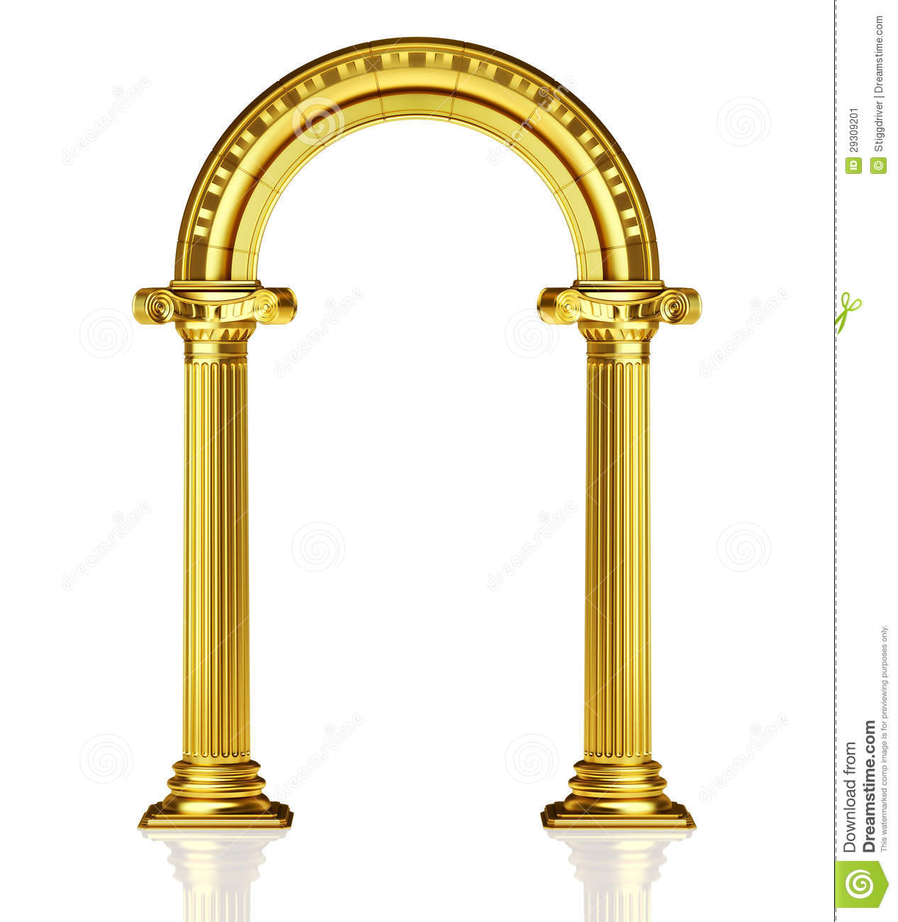 Gold arch stock illustration image of white culture for Architect 3d gold