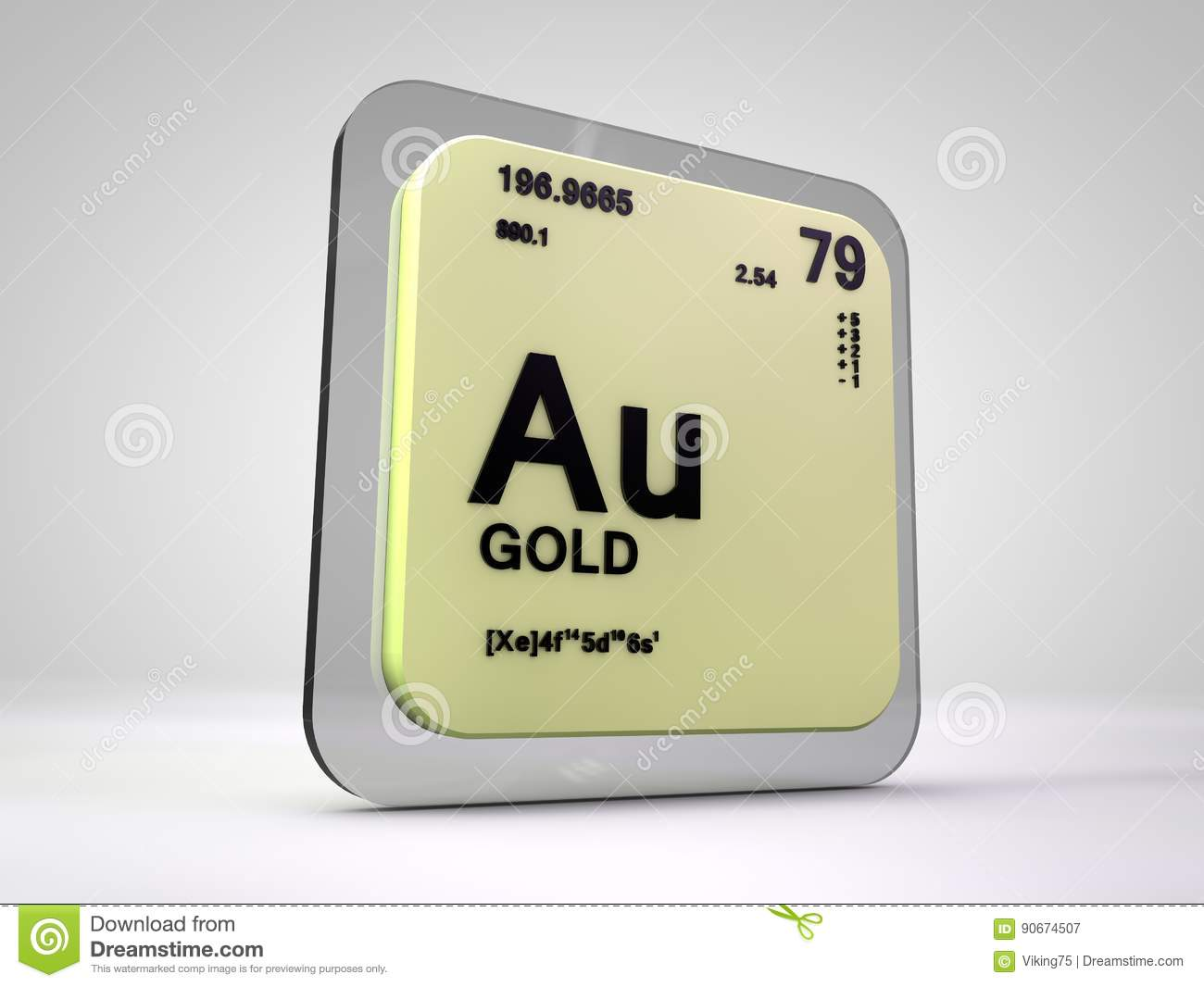 Gold au chemical element periodic table stock illustration download comp urtaz