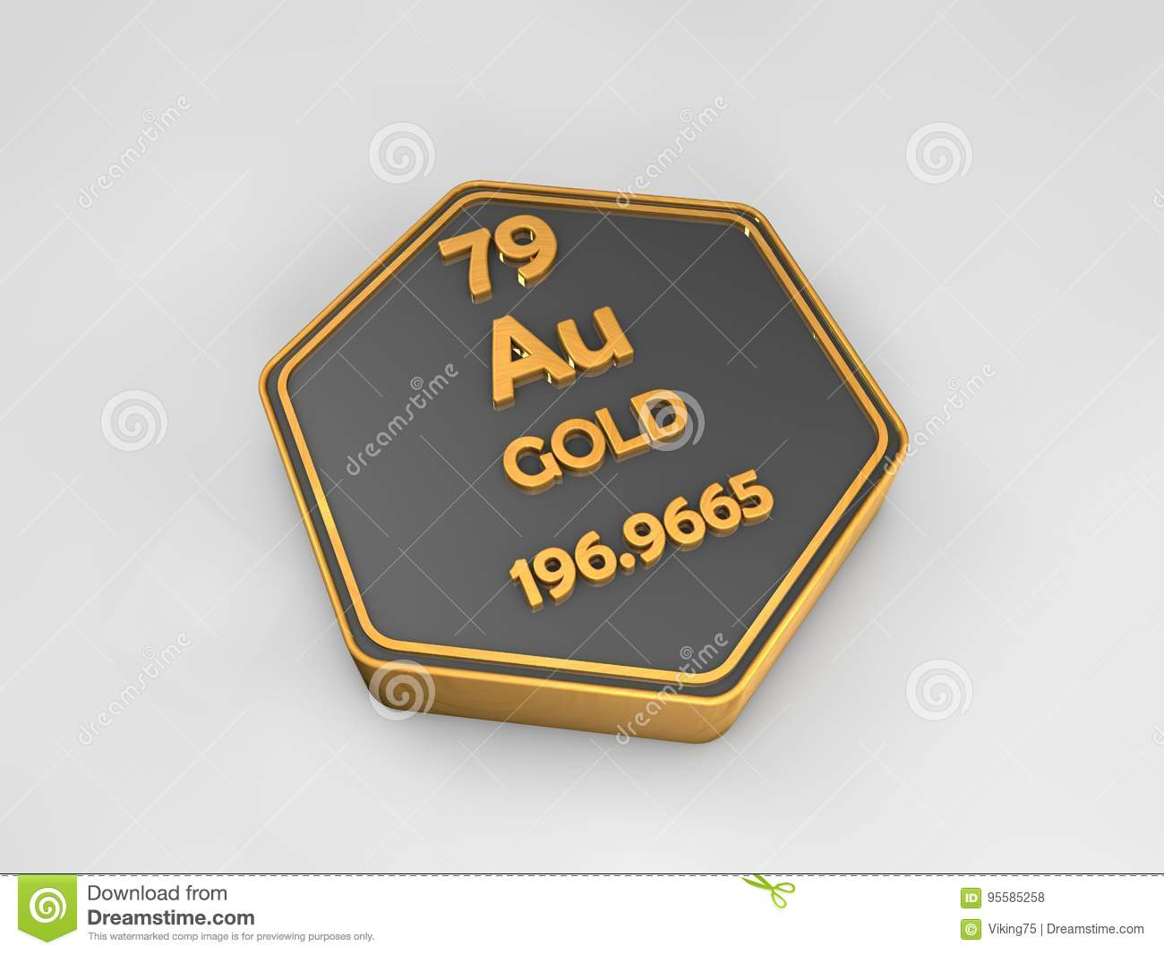 Chemical element gold from the periodic table stock illustration gold au chemical element periodic table hexagonal shape royalty free stock photos urtaz Image collections