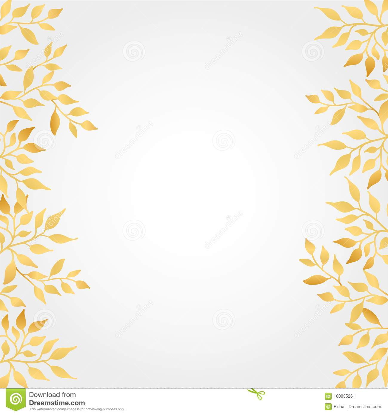 Gold Autumn Leaves Background Stock Vector Illustration Of Leaf