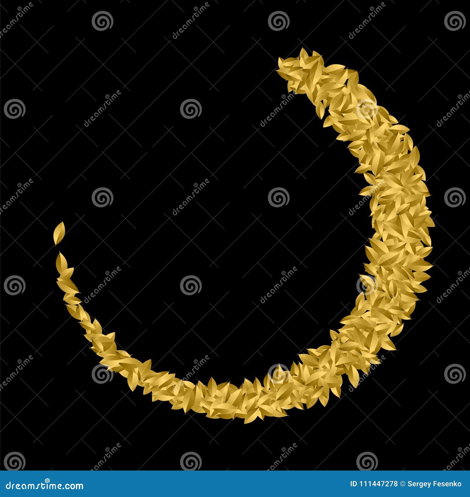 Golgen Leaf Symbol Triumph Stock Vector Illustration Of Certified
