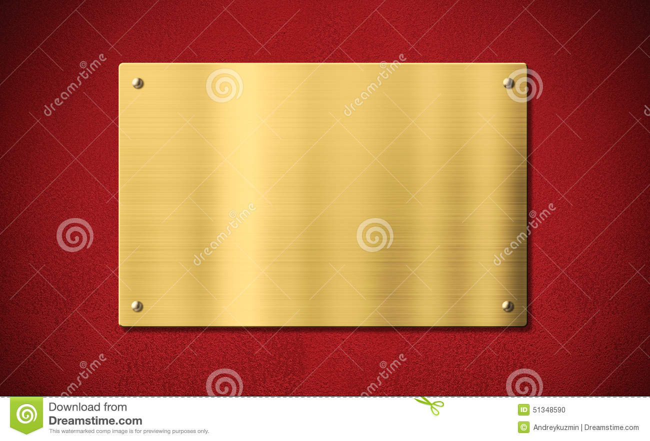 gold award plaque or plate on red background stock photo image 51348590. Black Bedroom Furniture Sets. Home Design Ideas