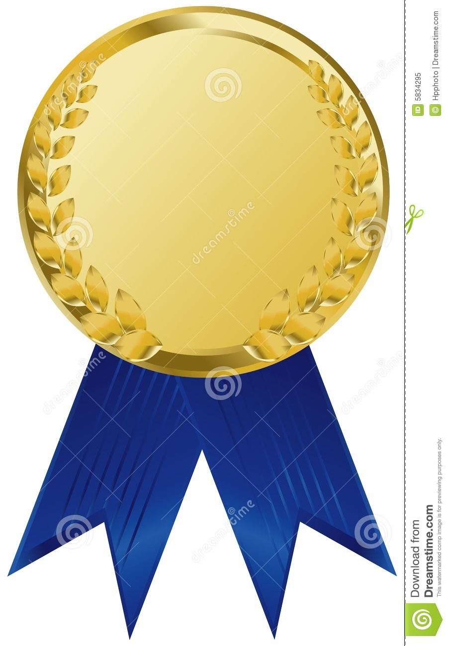 gold award ribbons stock vector illustration of first