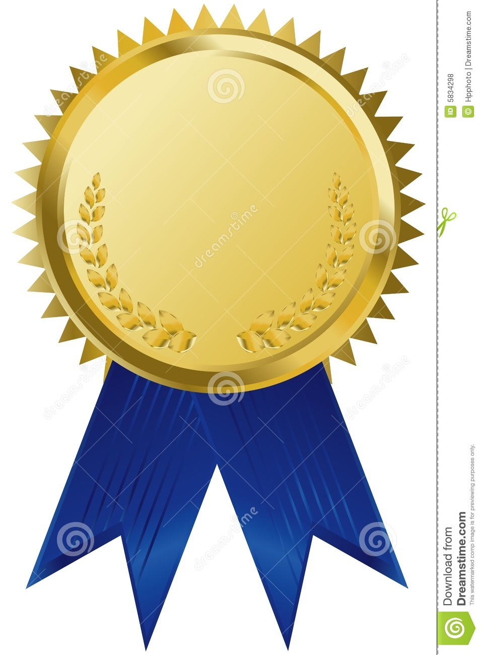 gold award ribbons stock vector illustration of event 5834298