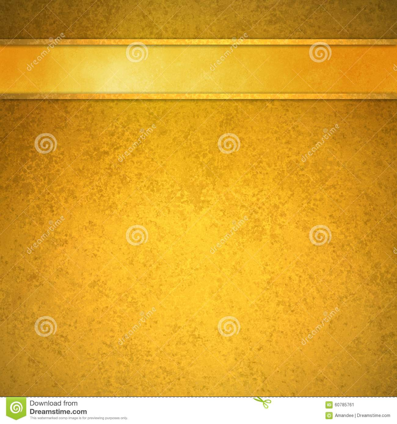 Background image header - Gold Background With Gold Ribbon And Trim Header