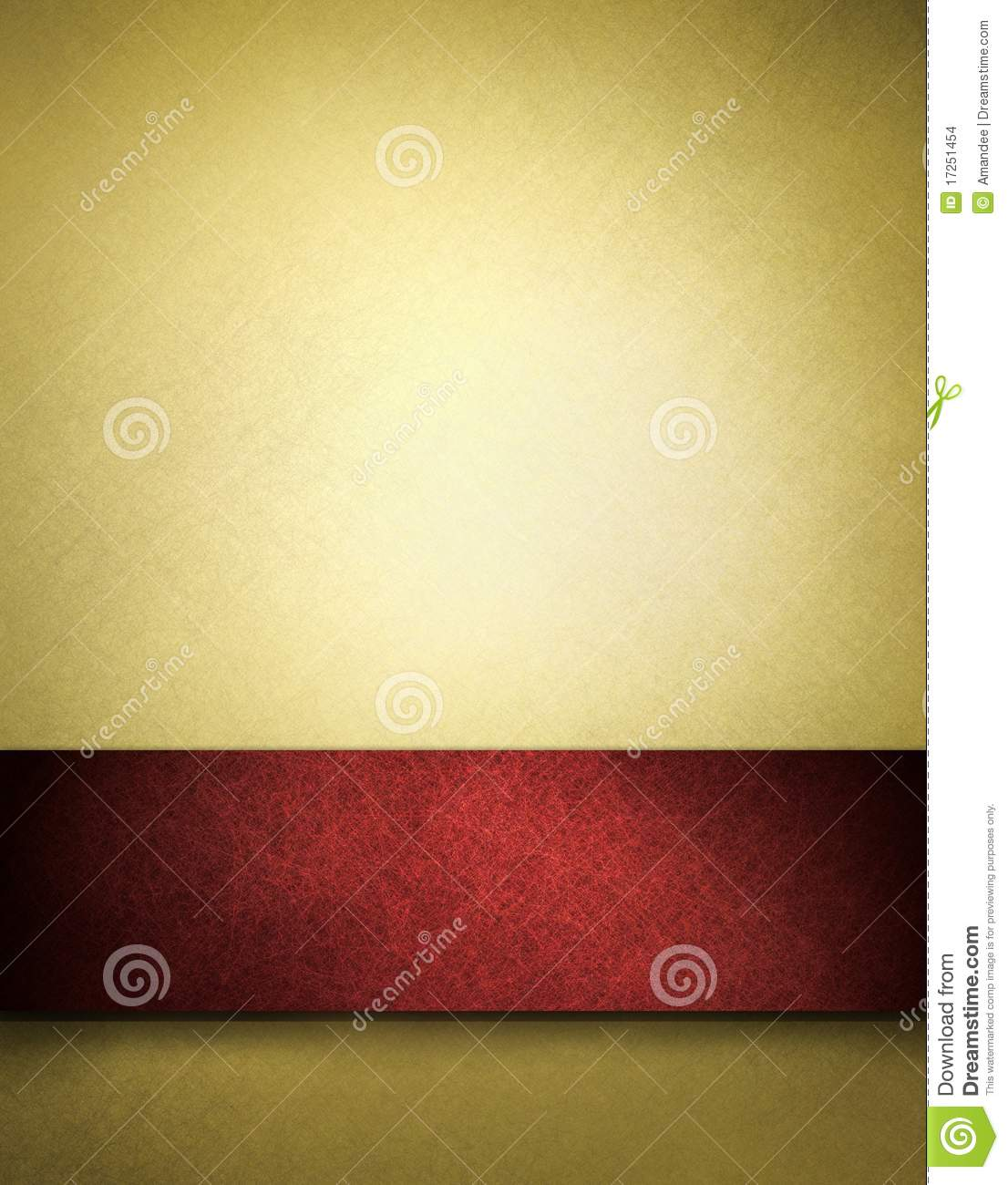 Gold background with red stripe for text or title