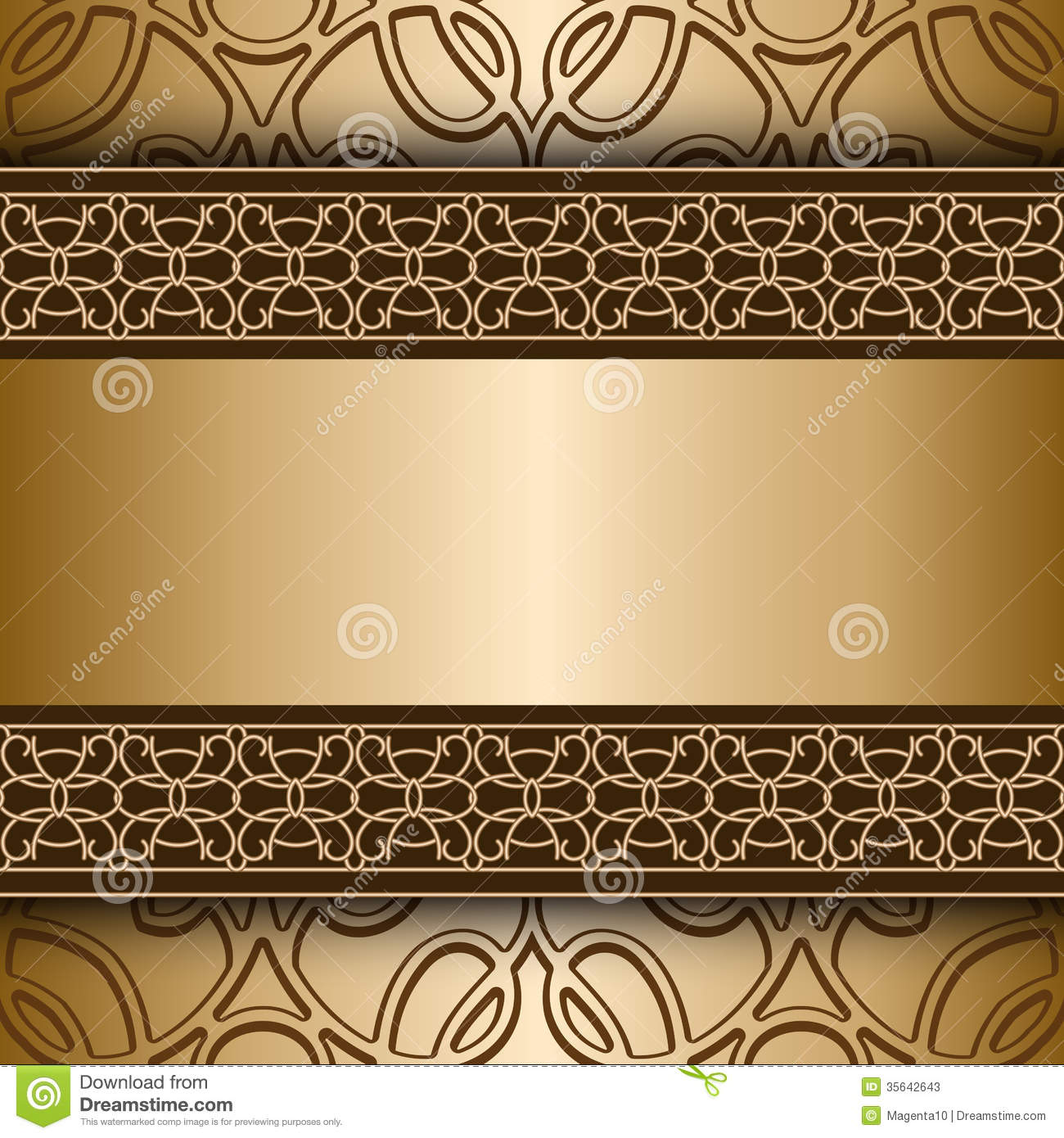 Gold background stock vector. Illustration of lacy, cover ...