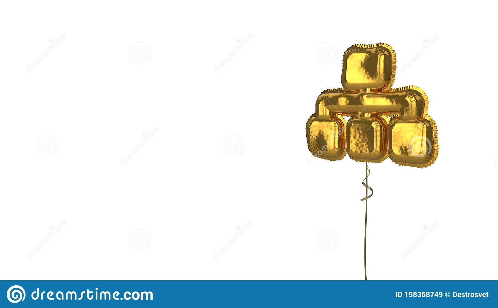 gold balloon symbol of sitemap on white background