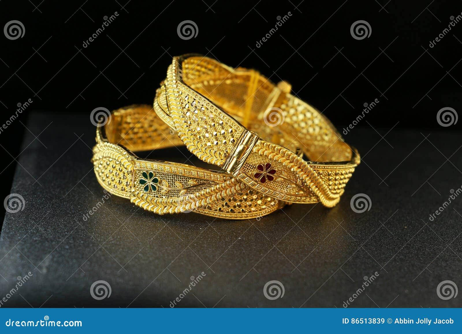 Gold Bangle Jewellery Stock Image Image Of Metal Asian 86513839