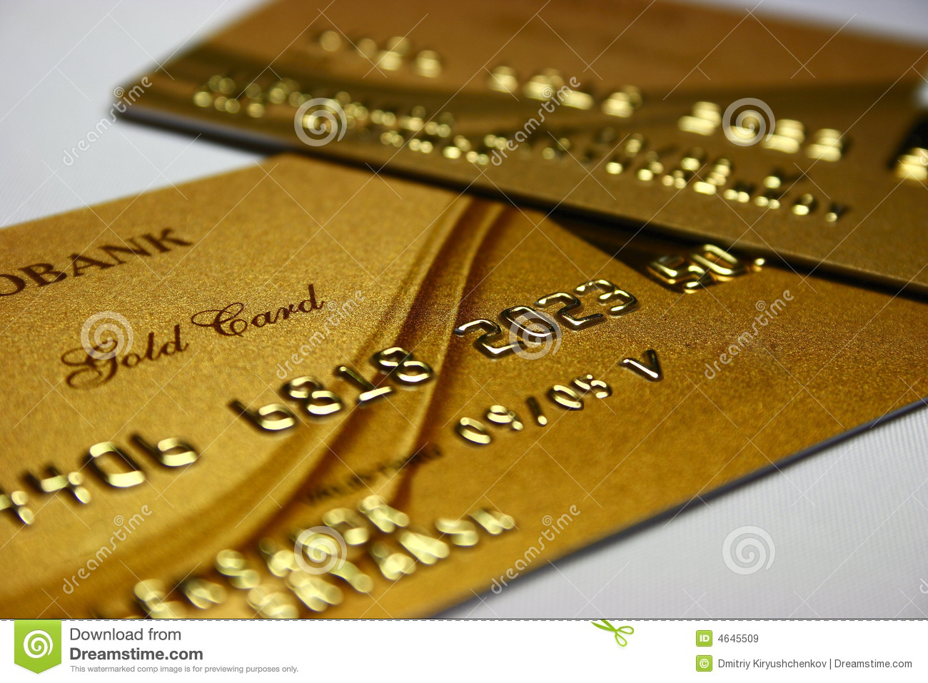 Gold Bank Card Stock Image Image Of Save Bank Rich