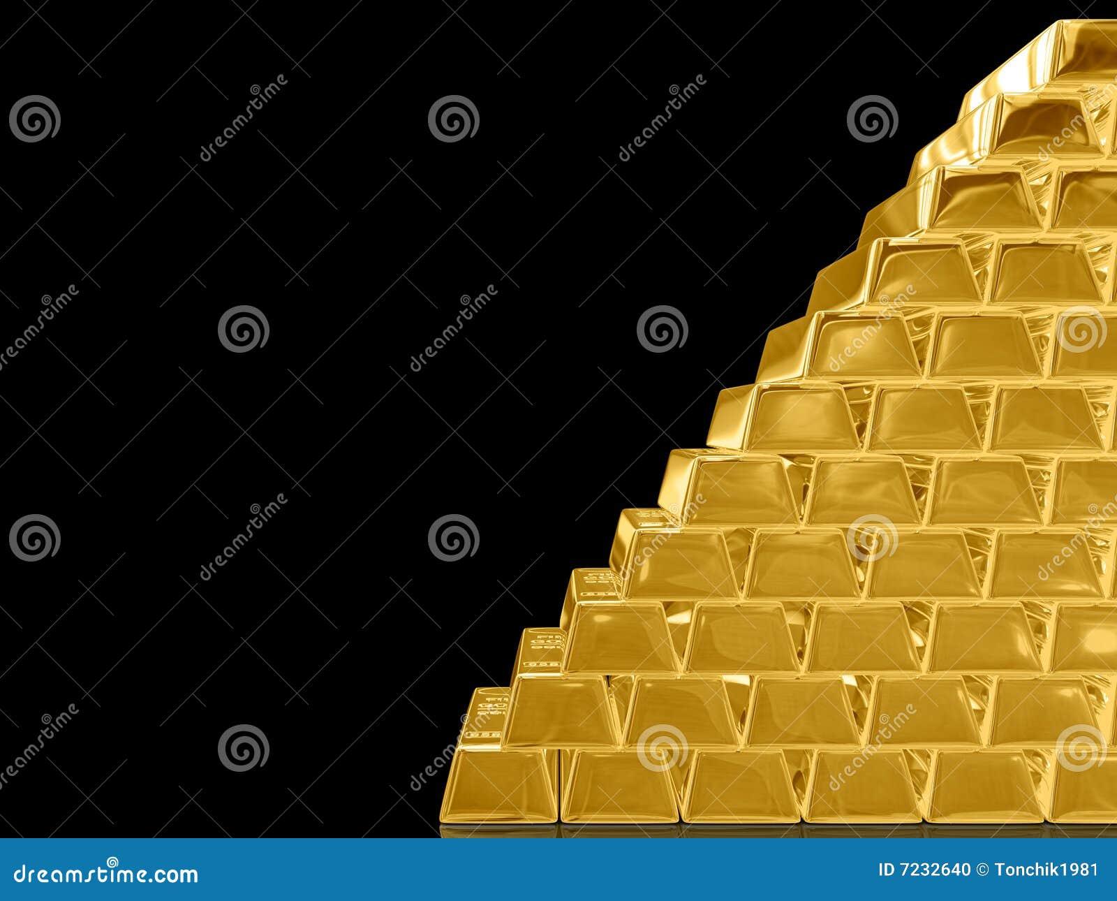 gold bar black background - photo #17