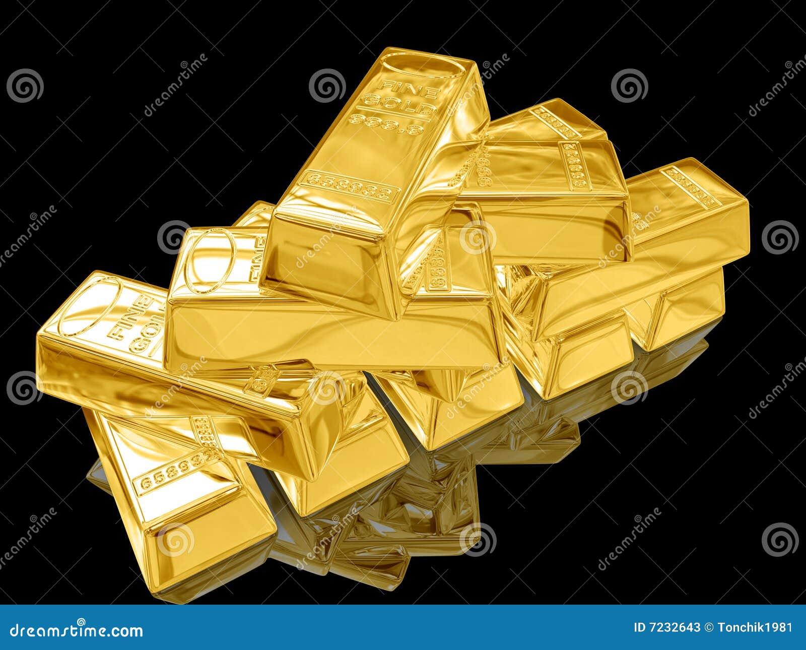 gold bar black background - photo #7
