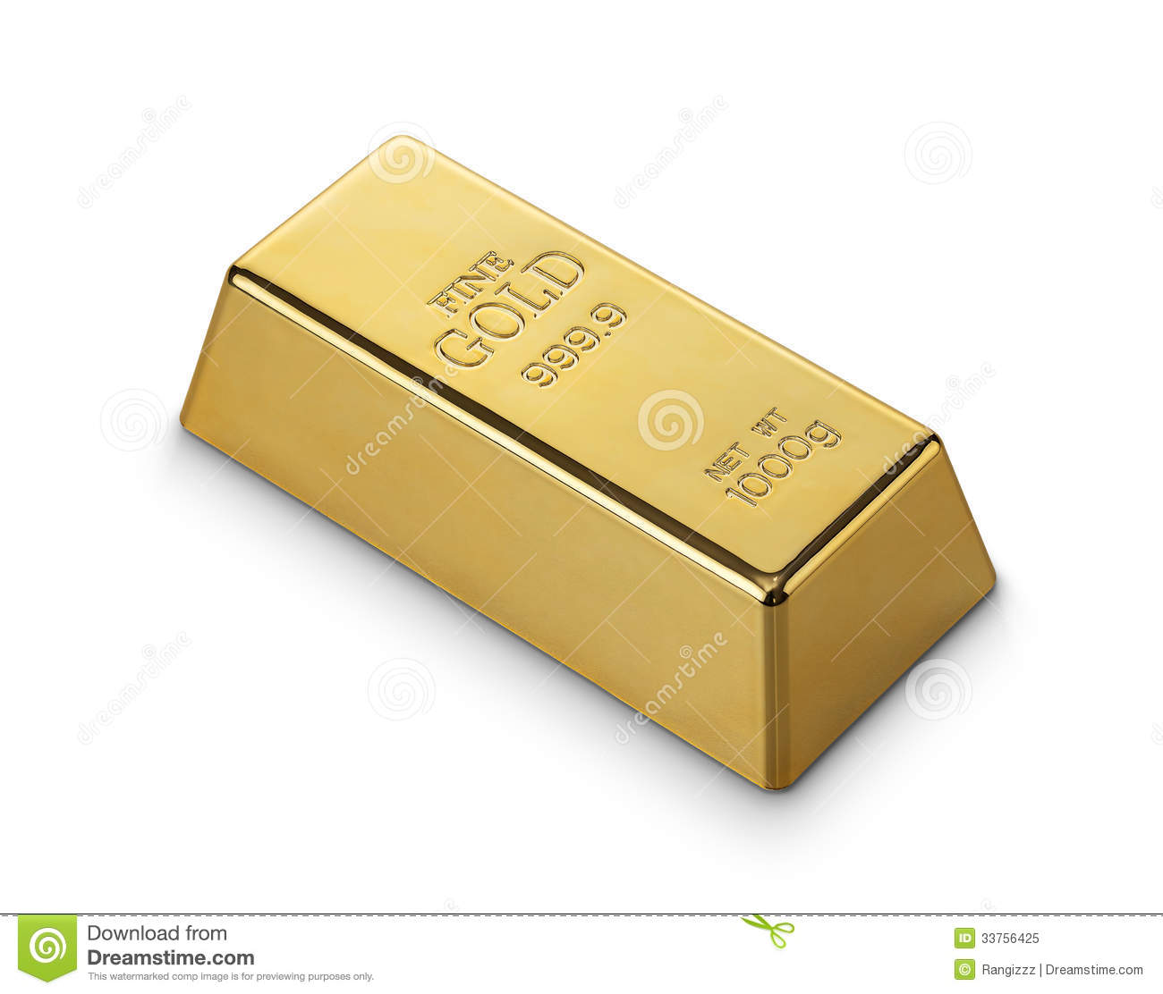 Gold Bar Royalty Free Stock Photo Image 33756425