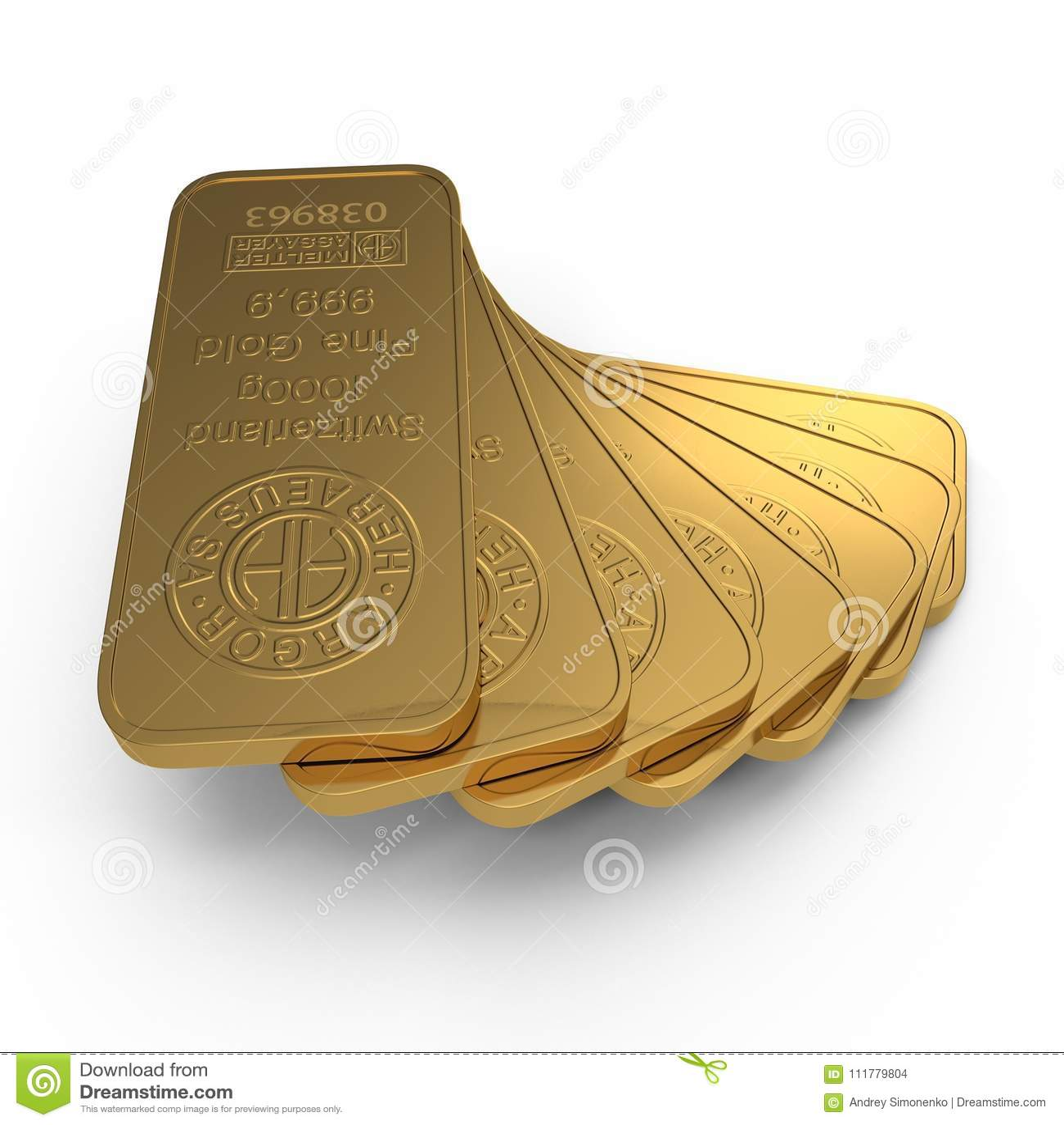 Gold bar 1000g isolated on white. 3D illustration