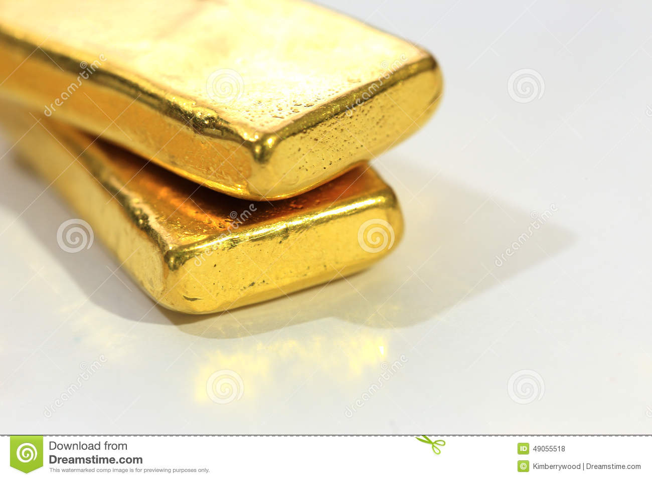 Gold Bar Stock Photo Image 49055518