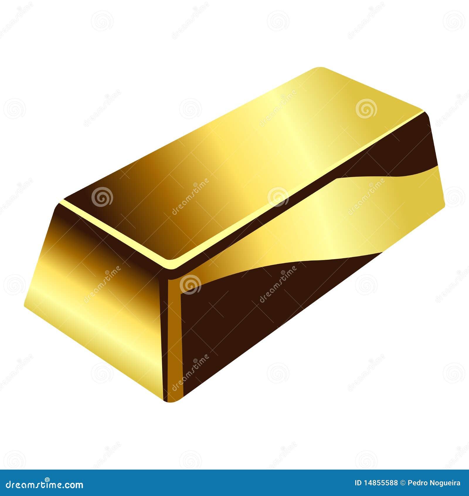 Gold bar over white