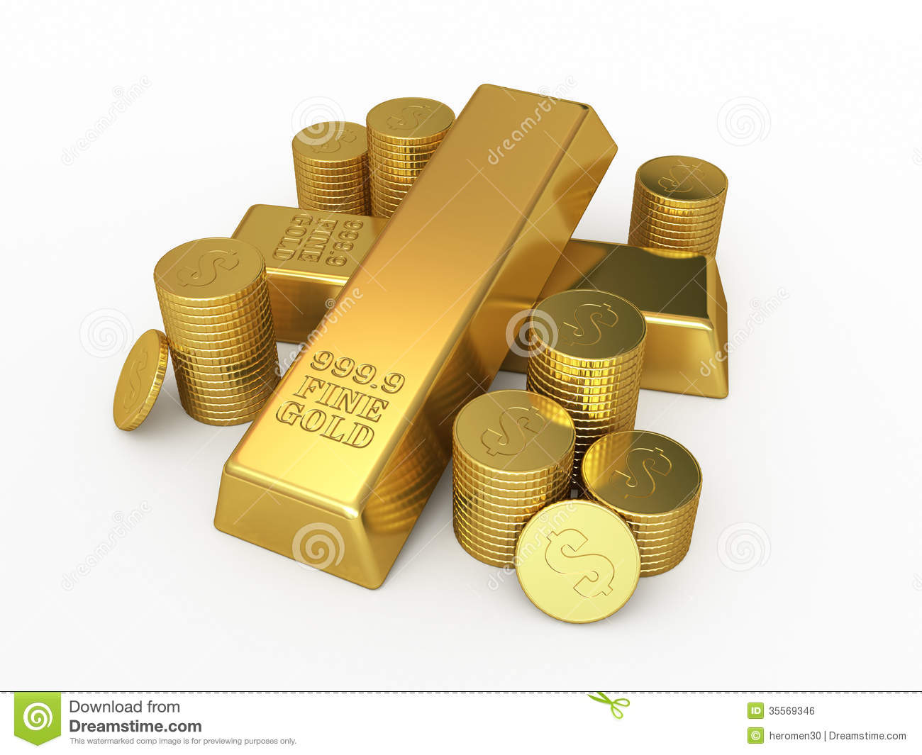 gold bars and coins royalty free stock image image 35569346. Black Bedroom Furniture Sets. Home Design Ideas