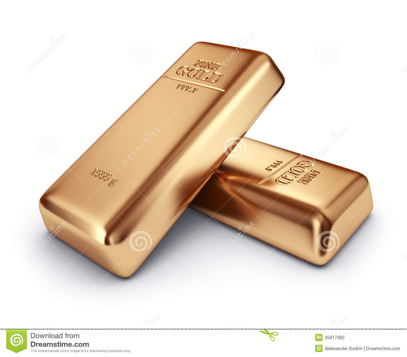 Gold Bars. Concept Of Banking. 3D Icon Isolated Stock ...