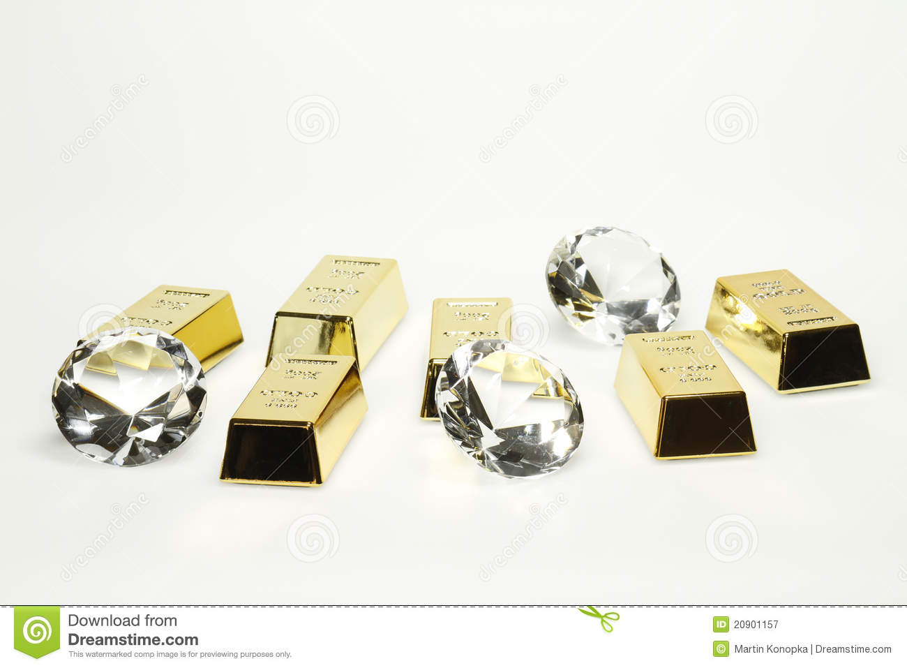 Gold bars and diamonds stock image. Image of glossy ... Gold And Diamonds