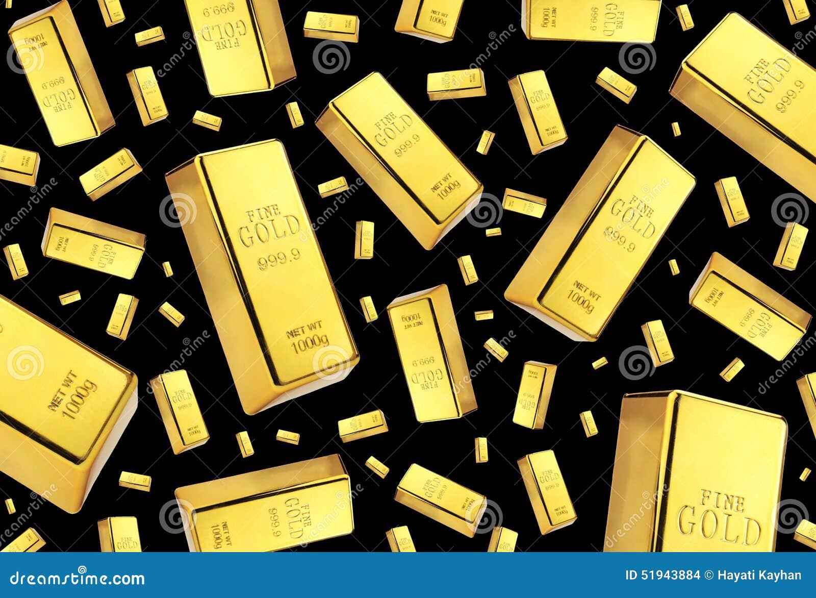 gold bar black background - photo #15