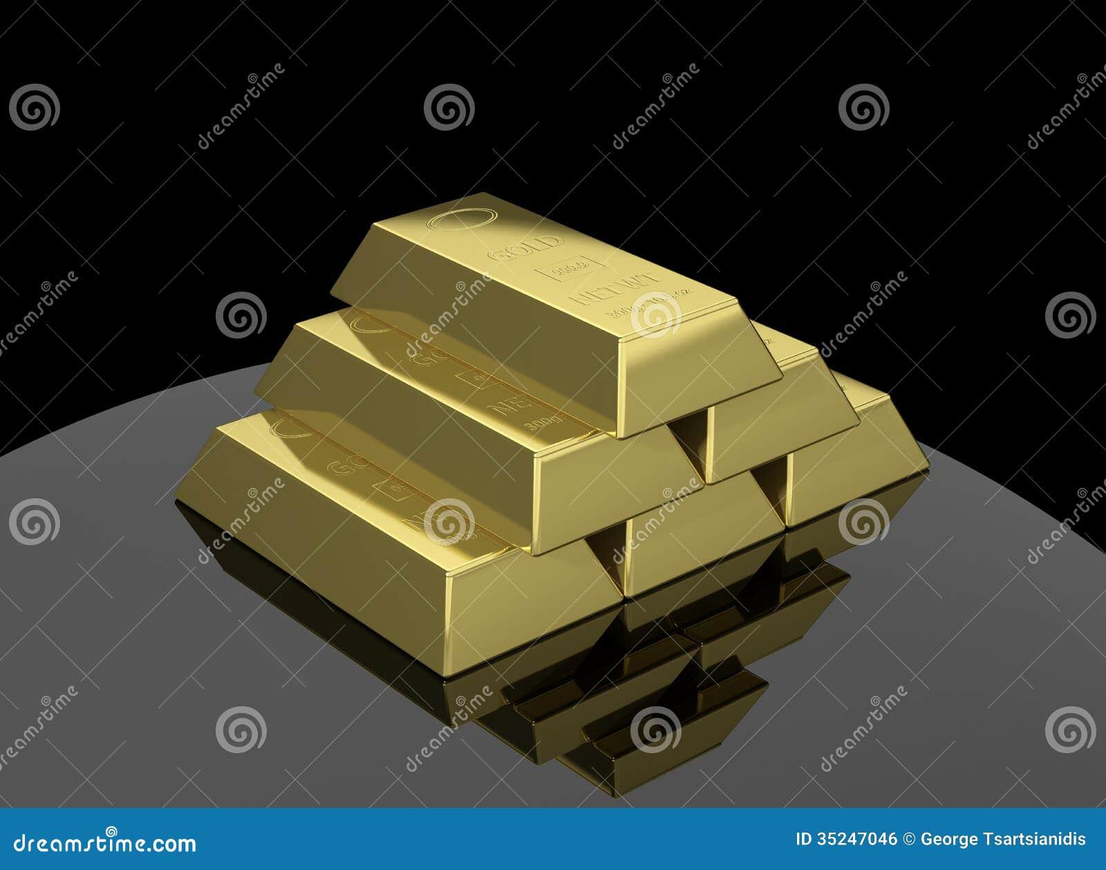 gold bar black background - photo #28