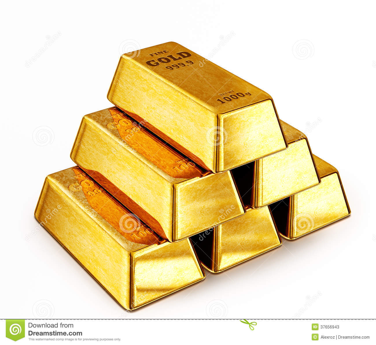 Gold Bars Stock Photos - Image: 37656943