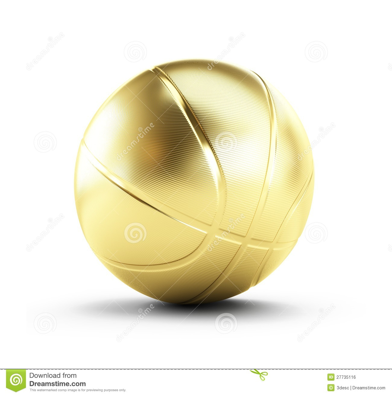 Gold Basketball Ball Royalty Free Stock Image - Image: 27735116