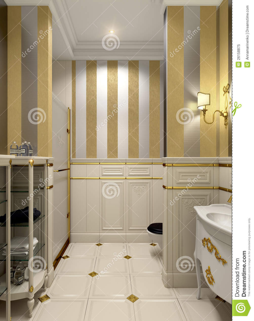 Gold Bathroom Royalty Free Stock Photo Image 26158875