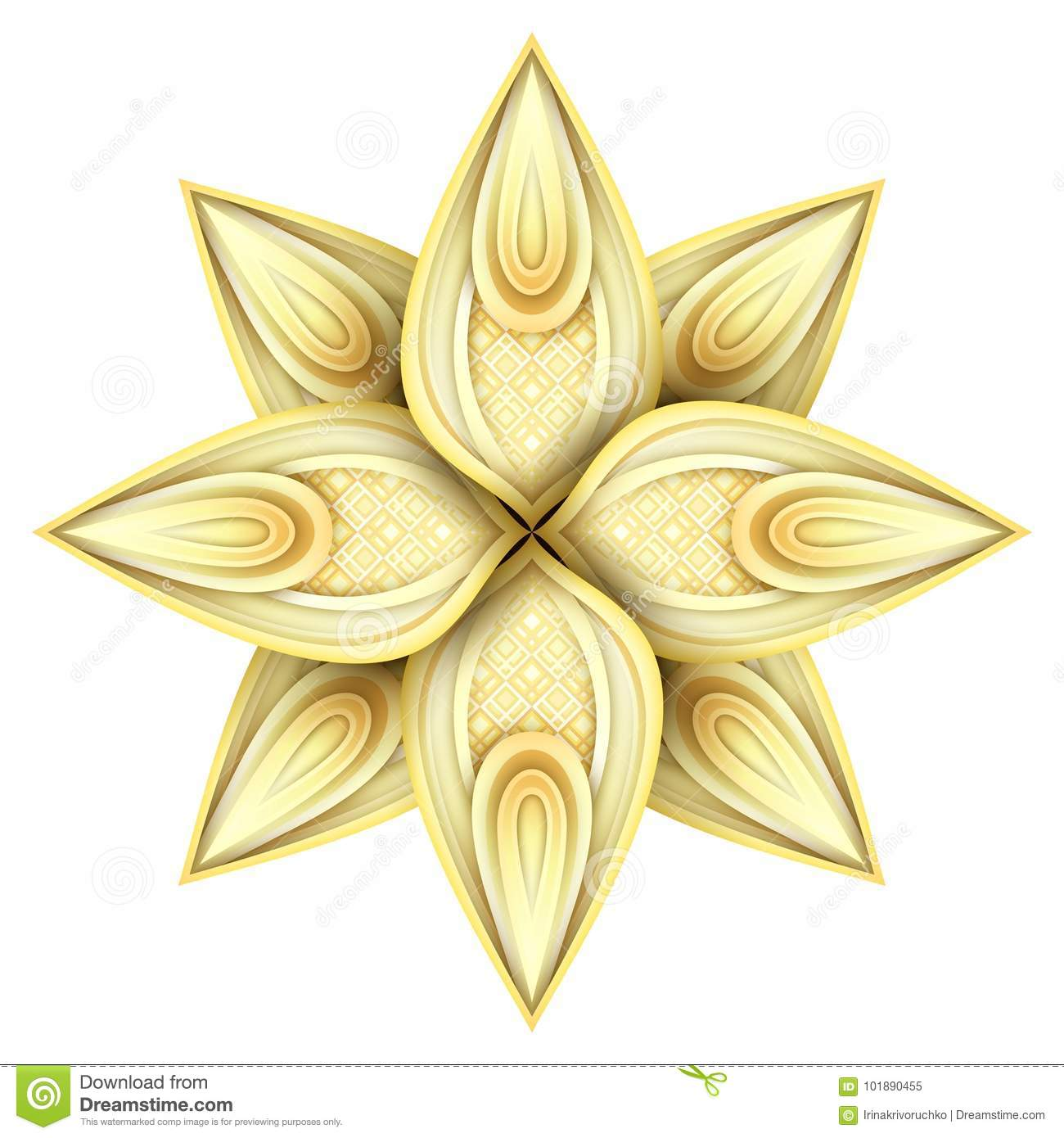 Gold Beautiful Decorative Ornate Mandala