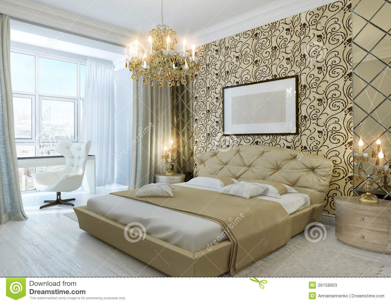Gold Bedroom Stock Photos Image 26158903
