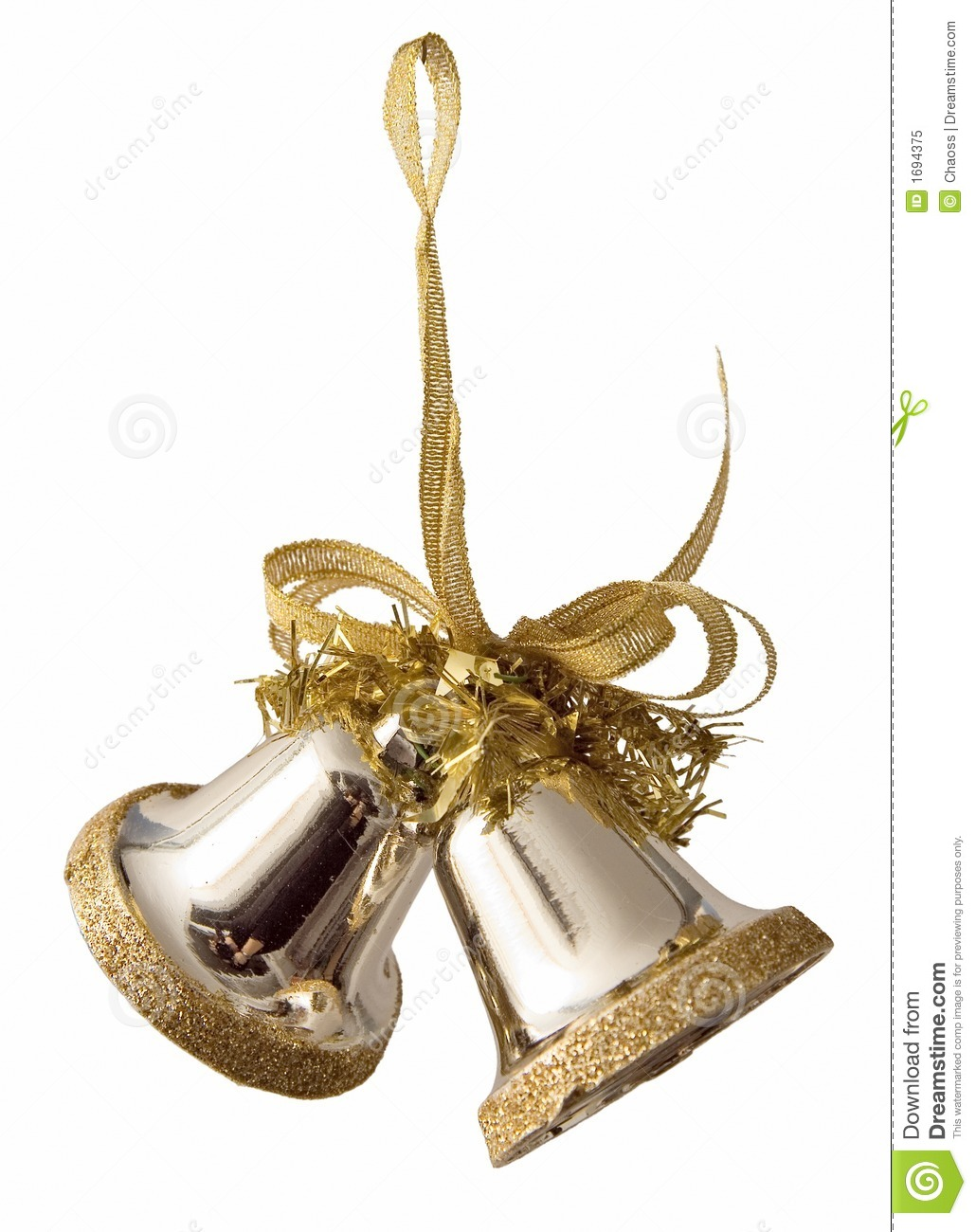 Gold bells royalty free stock photo image 1694375