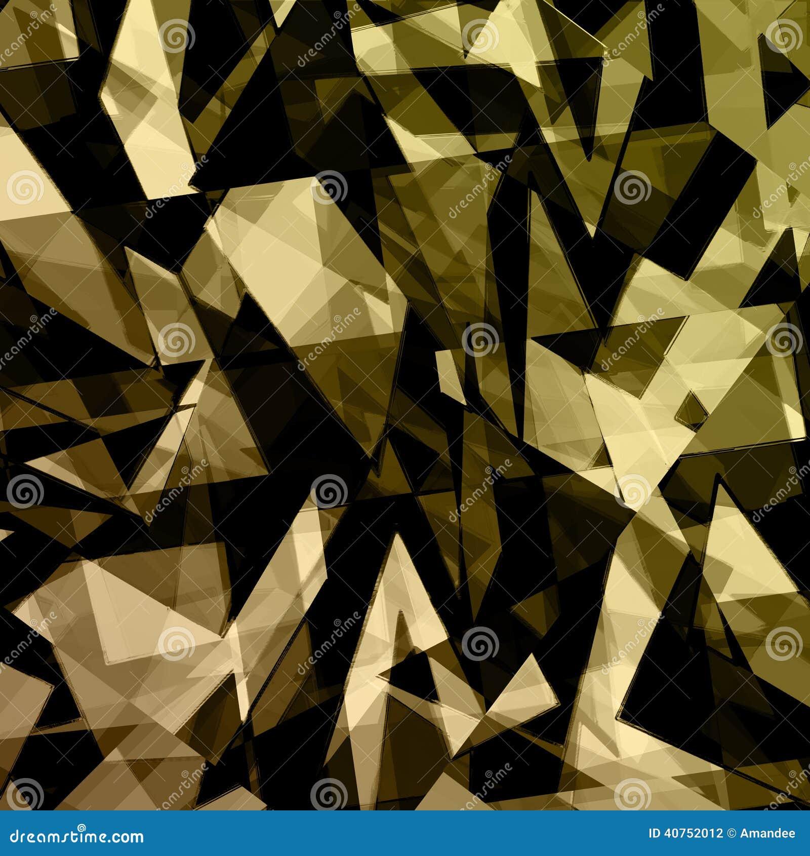 Gold Black Abstract Background Design Stock Illustration
