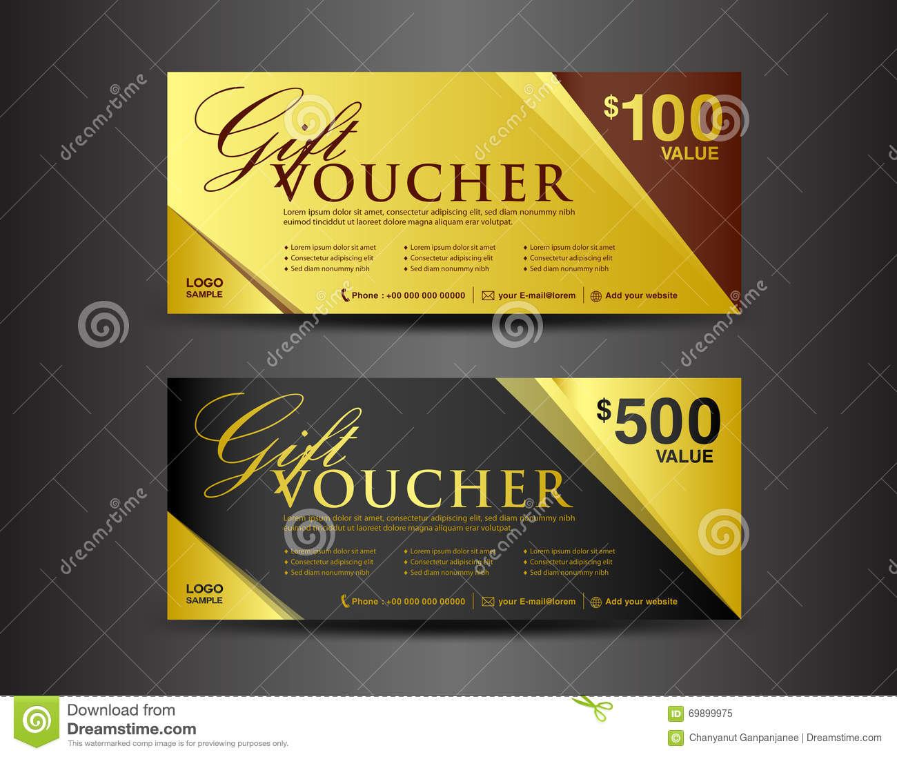 Ticket coupon template