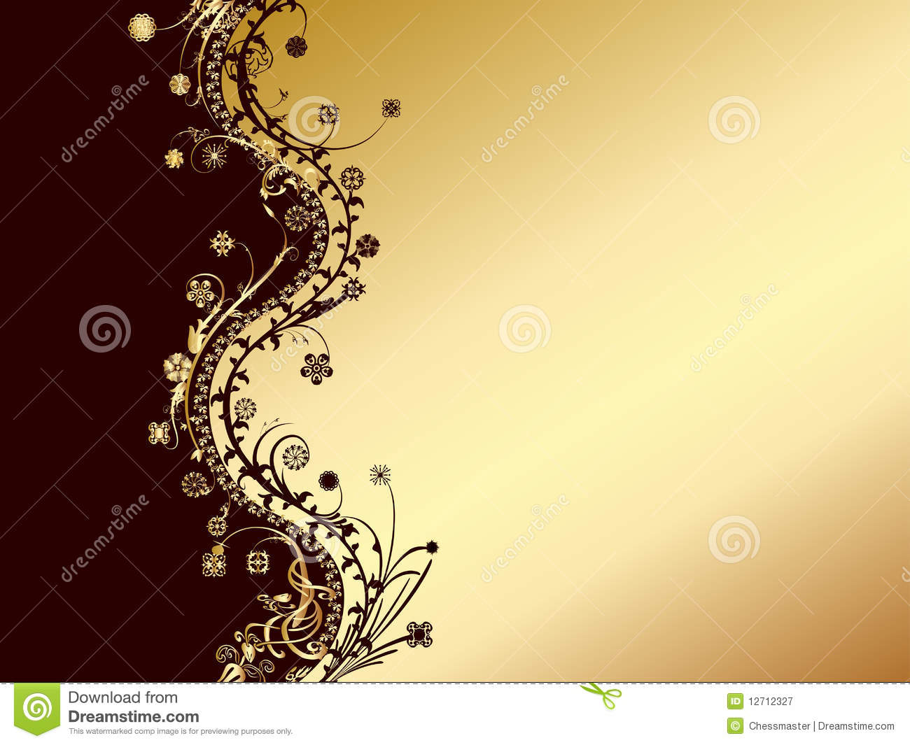 Gold And Black Invitation Card Royalty Free Stock ...