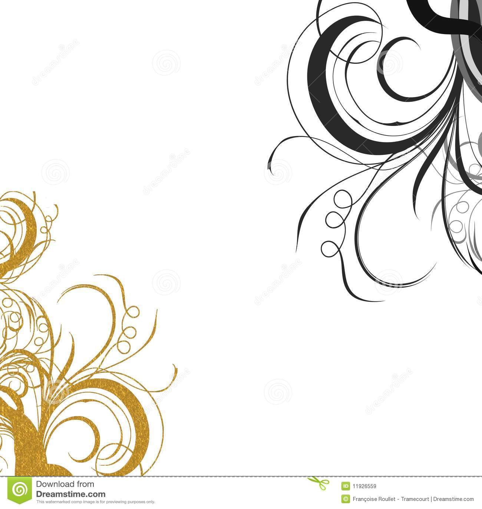 gold black swirls royalty free stock images