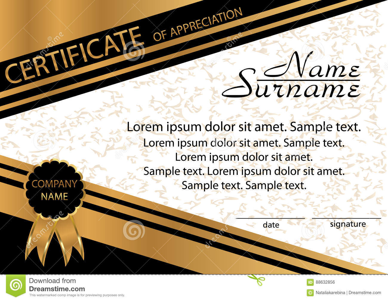 Gold and black template certificate of appreciation elegant bac gold and black template certificate of appreciation elegant bac yelopaper Choice Image