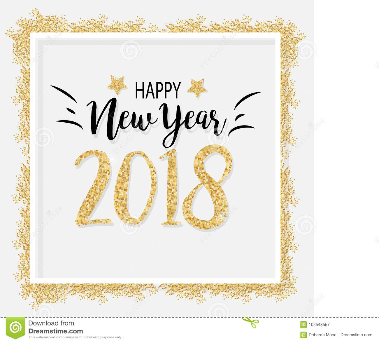elegant new year 2018 background in vector